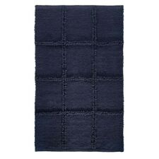 "InterDesign #17322 34"" x 21""- Navy Grid Rug"