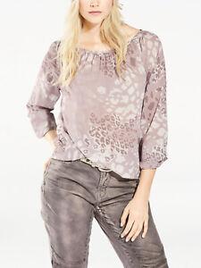 Heine Ladies Dusty Pink Printed Long Sleeved Bubble Hem Top - BNIP
