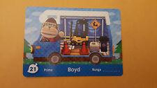 Animal Crossing New Leaf Amiibo Card #21 Boyd New!
