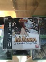 Inuyasha A Feudal Fairy Tale Video Game PS1 Bandai Complete Tested