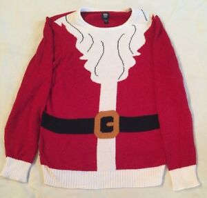 """NEW Ugly Christmas Sweater """"Santa's Top"""" For Man Size L Large"""
