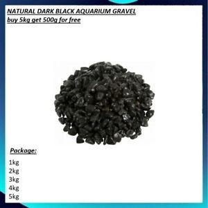 NATURAL DARK BLACK AQUARIUM GRAVEL