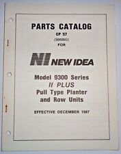 New Idea 9300 Series Ii Plus Corn Bean Planter Parts Catalog Manual Original! Ni
