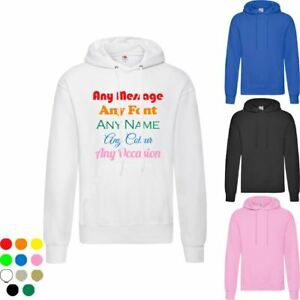 Personalised Adults Hoodie, Unisex, Various Sizes, Colours, Fonts and Colours