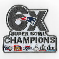 6X Super Bowl 53 LIII Champions New England Patriots Iron on Patches G Patch FN