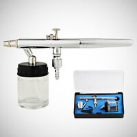 New 0.35mm Dual-Action Airbrush Air Brush Spray Gun Kit Siphon Feed Bottle Cup
