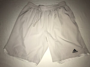 """Adidas Shorts Mens XL Beige Authentic Climalite Axis Woven 9"""" Training Shorts"""