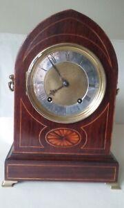 W & H Antique Rosewood Clock Lancet case, movement overhauled.