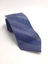 $125 CALVIN KLEIN Men`s STRIPED BLUE WHITE NECK TIE CASUAL DRESS NECKTIE 60X2.25