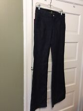 7 For All Mankind NWT $192 Dark Blue Flare leg Jeans 27 back button pockets cute