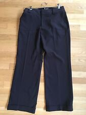 Sundance ~ Polyester & Rayon ~ Navy ~ Pants ~ Classic ~ Pet. 8 ~ EUC ~ Wide Leg