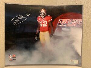 Patrick Willis Signed San Francisco 49ers 16x20 Photo Tristar