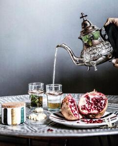 Real Moroccan Teapot Silver Tea pot Authentic Casablanca Morocco Souk Berber New