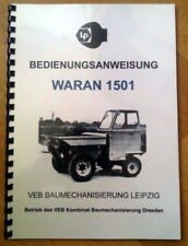 Waran Bedienungsanleitung IFA Waran 1501