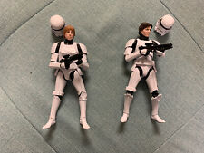 "Star Wars Black Series 6"" Han & Luke Skywalker Stormtrooper disguise loose lot"