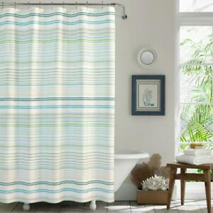 Tommy Bahama La Scala Breezer Green Cotton 72in X 72in. Shower Curtain