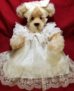 """Ann Inman """"Christina"""" artist 19"""" teddy bear mohair poseable arms Annemade"""