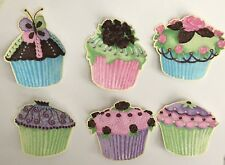 Party Cupcakes - Iron On Fabric Appliques