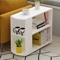 Coffee Tray Side Sofa Table Ottoman Couch Room Console Stand End Bookcase White