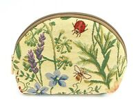 Ladybug Honey Bee Tapestry Travel Makeup Bag Cute Cosmetic Pouch Toiletry Bag