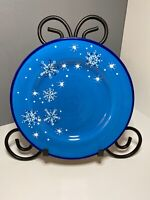 """Pfaltzgraff Ice Crystals Hand Painted Salad Plate 8.5"""" In Diameter"""