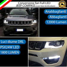 CONVERSIONE FARI A LED JEEP COMPASS 2 HB3 CANBUS MONOLED + LUCI DIURNE DRL LED
