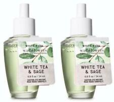 Bath Body Works WHITE TEA & SAGE Wallflower Fragrance Refill Bulbs x 2 Lot