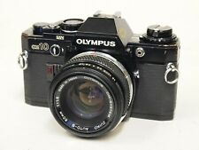 Olympus OM10 35mm SLR Camera in Black with 50mm F1.8 Lens. Stock No u11522