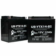 2x Battery for 2003 - 2012 Honda VTX1300C, R, S, Retro 1300 CC