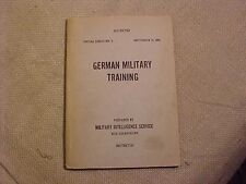 WWII SCARCE SPECIAL SERIES GERMAN MILITARY TRAINING INTELLIGENCE  MANUAL - 1942