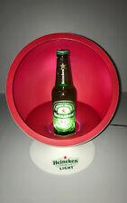 Heineken Light collectible countertop ball chair bottle display w lights Retro