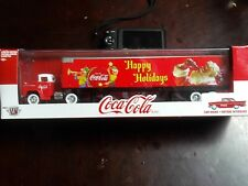 M2 MACHINES~TRUCK+TRAILER+CAR~1958 CHEVY  & 1957 CHEVY BEL AIR~COCA-COLA~NIB
