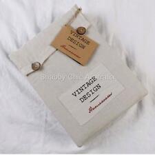 Hampton French Vintage Beige Linen Queen Bed Doona Duvet Quilt Cover &Pillow Set
