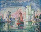 Harbour Of La Rochelle Paul Signac Landscape Painting Print CANVAS Small 8x10