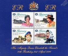 Castles & Palaces - Queen Elizabeth II 70th Birthday Stamp Sheet (1996 GAIRSAY)