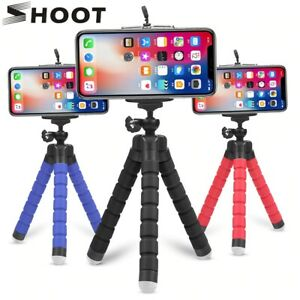 Universal Mini Tripod Mount Flexible Portable Metal Stand For Camera Smartphone
