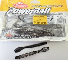 "Berkley PowerBait Pro Jig Worm 3"" - Black Ice, soft plastic lure"