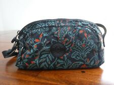 Kipling Flower Print Green & Black Medium Cross Body Shoulder Bag. Used, VCG.