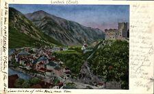 AK~1907 -LANDECK in TIROL- Blick auf die Stadt mit Silberspitze- LUNAKARTE 14286