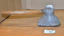 Huge antique broad axe cabin hewing collectible US blacksmith made ax tool #469