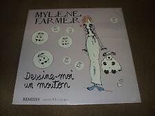 "@ MYLENE FARMER MAXI VINYL 12"" FRANCE DESSINE-MOI UN MOUTON REMIXES (3)"
