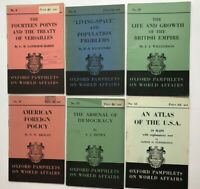 Set of 6 Oxford Pamphlets on World Affairs 1939-44 eg American Foreign Policy ++