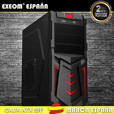 Caja ATX Ordenador Pc Gaming de Sobremesa Torre Devil Roja USB Frontal S/Fuente