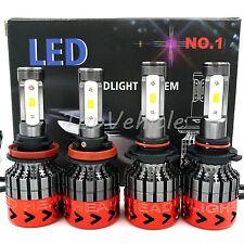 9005 H11 4PCS LED  800W 80000LM Combo Headlight High Kit 6000K-6500K White Bulbs