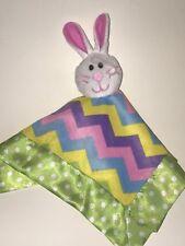 Nwot Hobby Vestíbulo Little Wishes Verde Chevron Conejito de Pascua Bebé Lovey