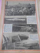 Mermoz Avion l'Arc en ciel  franchi l'Atlantique Sud Print 1934