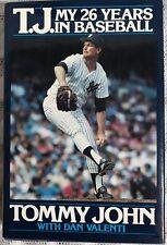 T.J. My 26 Years in Baseball MLB SIGNED by Both Tommy & Sally John HC DJ