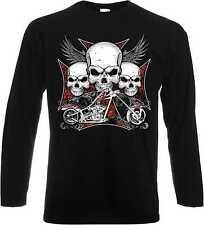 Camisetas de hombre de manga larga negra B&C