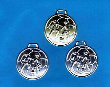 50 Medaillen Fußball silber mit Band #FB1 (Sonderposten Turnier Jugend Medaille