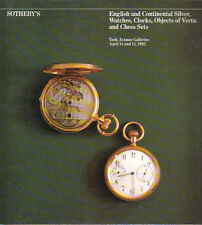 SOTHEBY'S Watches Silver Objects Vertu Snuff Boxes Chess Sets Auction Catalog 82